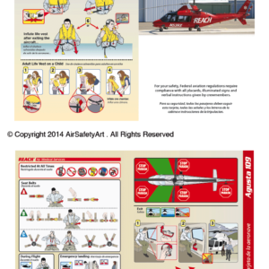 Agusta A109 Safety Briefing Card