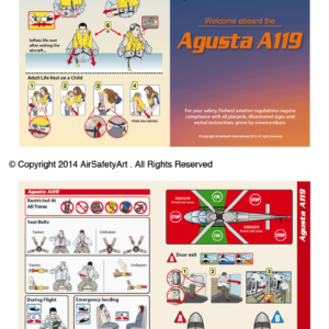 Agusta A119 Koala Safety Briefing Card