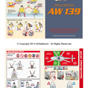 AgustaWestland AW139 Safety Briefing Card
