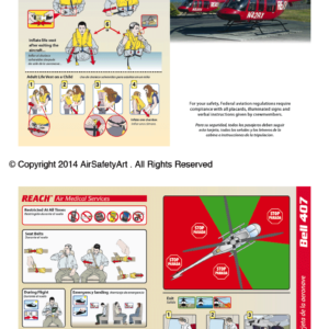 Bell 407 Safety Briefing Card