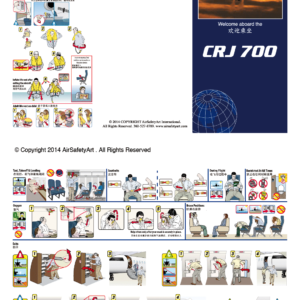 Bombardier CRJ 700 Safety Briefing Card