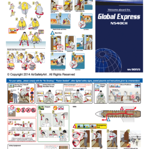 Bombardier Global Express Safety Briefing Card