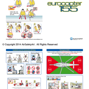 Eurocopter EC155 Safety Briefing Card