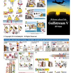 Gulfstream V Safety Briefing Card
