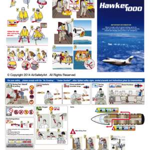 Hawker 1000 Safety Briefing Card