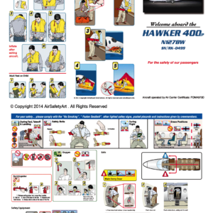 Hawker 400 Safety Briefing Card