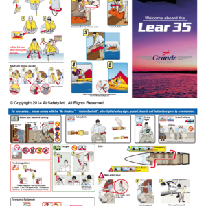 Learjet 35 Safety Briefing Card