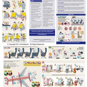 McDonnell Douglas MD-11 Safety Briefing Card
