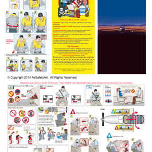 Piper PA-46 Safety Briefing Card