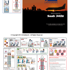 SAAB 340 Safety Briefing Card