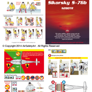 Sikorsky S-76B Safety Briefing Card